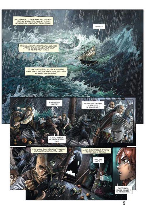 Elfes – cycle Les elfes noirs, T15 : Noir comme le sang (0), bd chez Soleil de Hadrien, Crety, Popescu, Héban