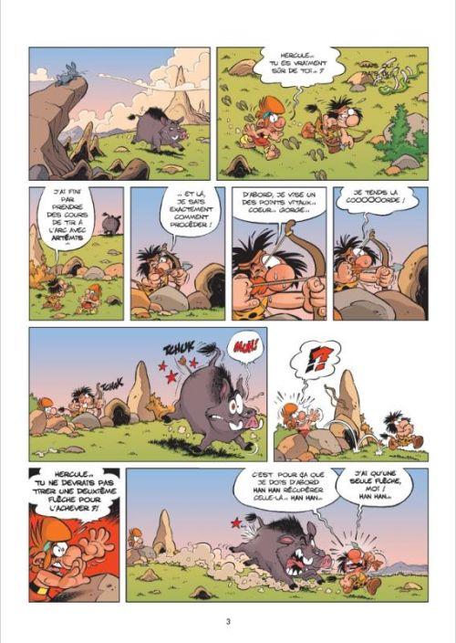 Les Petits mythos T7 : Les raclés d'Héraclès (0), bd chez Bamboo de Cazenove, Larbier, Amouriq, Mirabelle