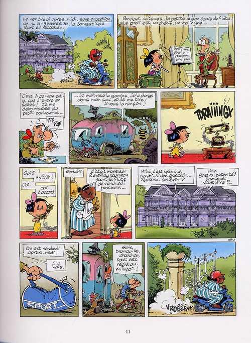 Mademoiselle Louise T3 : Une gamine en or (0), bd chez Dupuis de Salma, Geerts, Mauricet