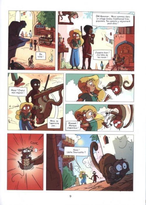 Namaste T2 : Dans l'ombre du dieu singe (0), bd chez Sarbacane de Simon, Guarino