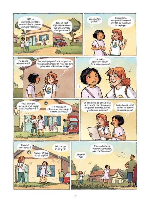 Les Amies de papier T1 : Le cadeau de nos 11 ans (0), bd chez Bamboo de Cazenove, Chabbert, Cécile, Cordurié