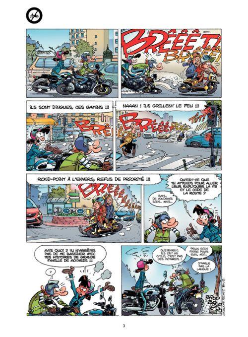 Les fondus de moto T9, bd chez Bamboo de Richez, Cazenove, Bloz, Schelle