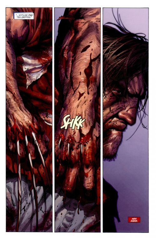 La mort de Wolverine, comics chez Panini Comics de Loveness, Soule, Fialkov, Ogle, Mario, Scherberger, Coello, McNiven, Rosenberg, Ponsor, Charalampidis, Curiel