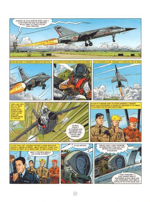 Tanguy et Laverdure « classic » T2 : L'avion qui tuait ses pilotes (0), bd chez Dargaud de Charlier, Durand, Charrance