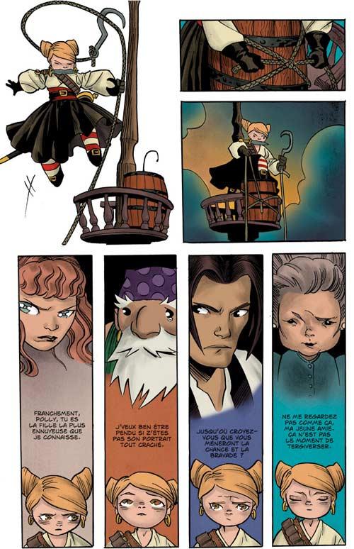 Polly et les pirates T6 : Le retour de la reine (0), comics chez Les Humanoïdes Associés de Naifeh, Ralenti
