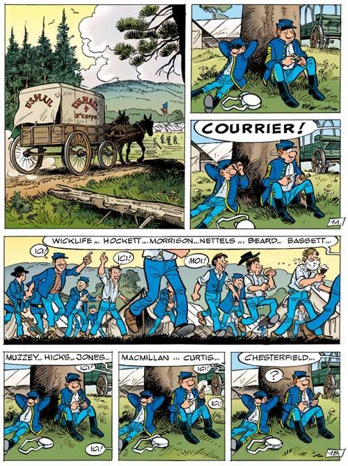 Les Tuniques bleues T51 : Stark sous toutes les coutures (0), bd chez Dupuis de Cauvin, Lambil, Léonardo