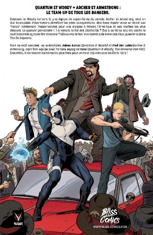 The Delinquents, comics chez Bliss Comics de Asmus, Van Lente, Kano, Doe, Rivera