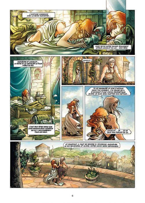 La quête du Graal T5 : Galaad (0), bd chez Soleil de Debois, Bileau, Merli
