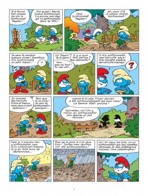 Les Schtroumpfs T35 : Les schtroumpfs et les haricots mauves (0), bd chez Le Lombard de Jost, Culliford, Garray, Culliford