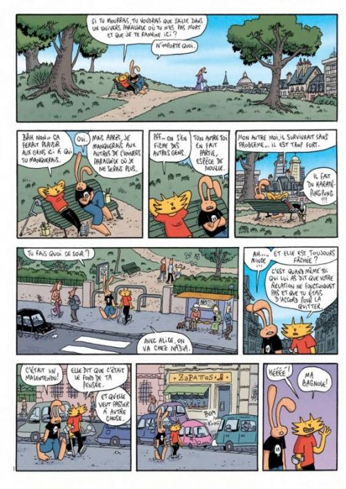 Les Nouvelles aventures de Lapinot T1 : Un monde un peu meilleur (0), bd chez L'Association de Trondheim, Findakly