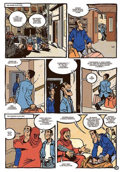 Une aventure de Nadir Oualou T1 : Oualou en Algérie (0), bd chez La boîte à bulles de Gyps, Dahmani, Takaku, Takaku