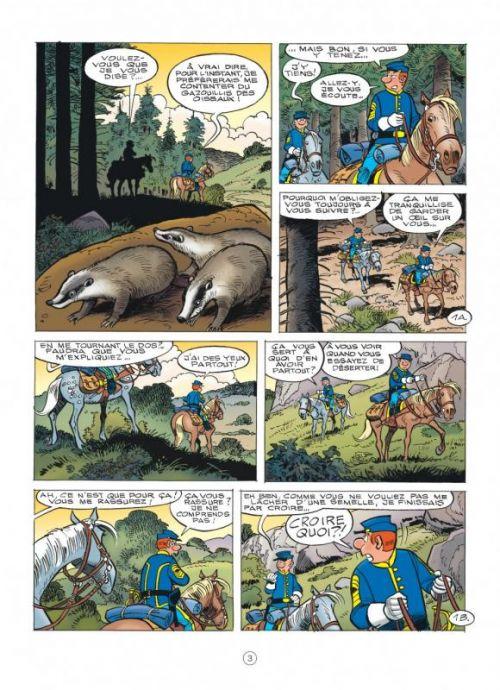 Les Tuniques bleues T61 : L'étrange soldat Franklin (0), bd chez Dupuis de Cauvin, Lambil, Léonardo