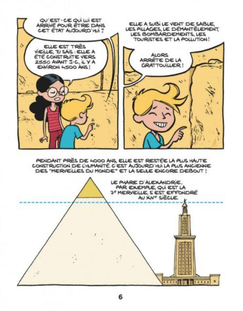 Le Fil de l'Histoire T2 : La pyramide de Khéops (0), bd chez Dupuis de Erre, Savoia