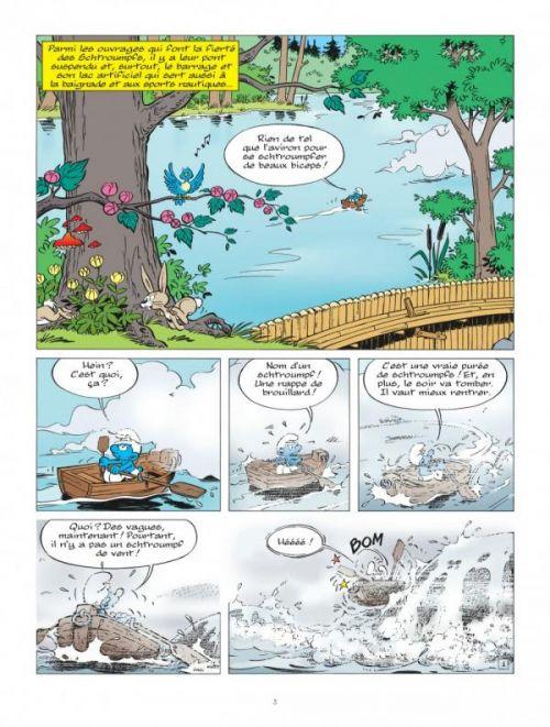 Les Schtroumpfs T36 : Les Schtroumpfs et le monstre du lac (0), bd chez Le Lombard de Culliford, Jost, Diaz, de Coninck, Culliford