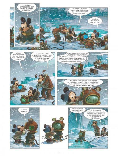 Mickey et l'océan perdu, bd chez Glénat de Filippi, Camboni, Yvan