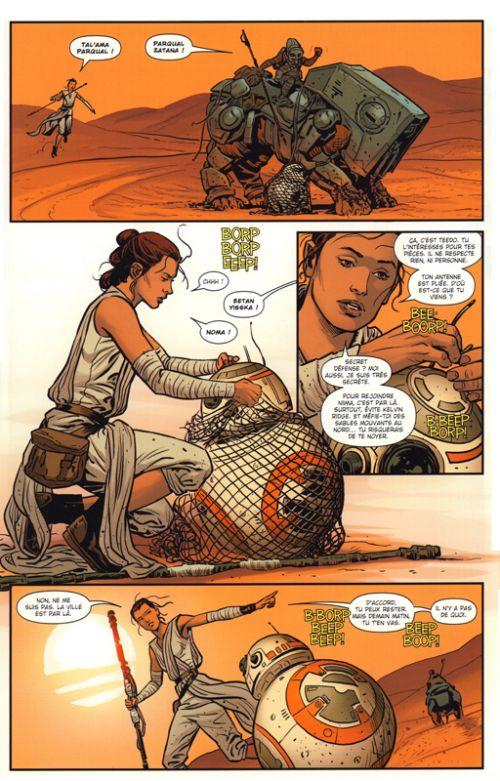 Star Wars : Les ruines de l'Empire / Le réveil de la Force (0), comics chez Panini Comics de Wendig, Rucka, Checchetto, Ross, Laming, Unzueta, Laiso, Martin jr, Mossa