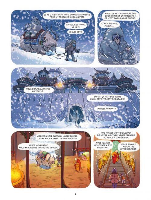 Enola et les animaux extraordinaires T4 : Le yéti qui avait perdu l'appétit (0), bd chez Editions de la Gouttière de Chamblain, Thibaudier, Camille