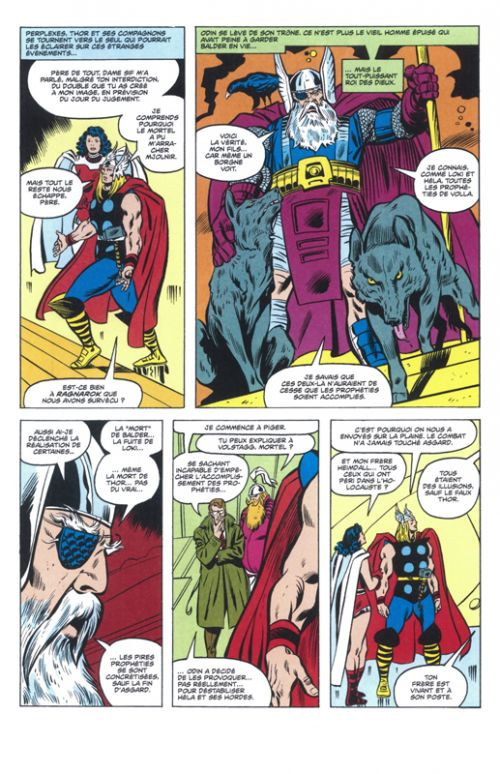 Thor - Ragnarok, comics chez Panini Comics de Thomas, Buscema, Roussos, Sean, Sharen, Wein, Palmer