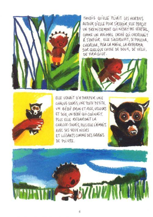 Des chauves-souris, des singes et des hommes, bd chez Gallimard de Constant, Barroux