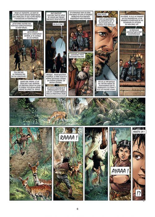 Merlin – cycle 2 : Cycle de Pendragon, T13 : La Crosse et le Bâton (0), bd chez Soleil de Jarry, Dellac, Lambert, Digikore studio