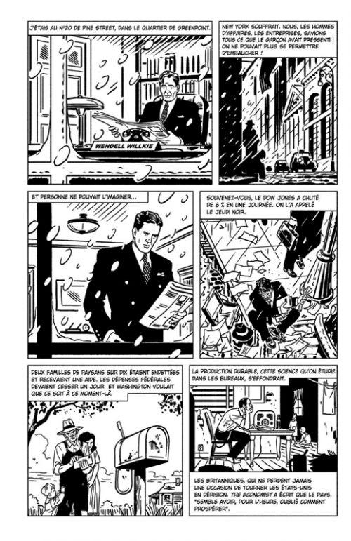The Forgotten Man : Nouvelle histoire de la Grande Dépression (0), comics chez Steinkis de Schlaes, Rivoche