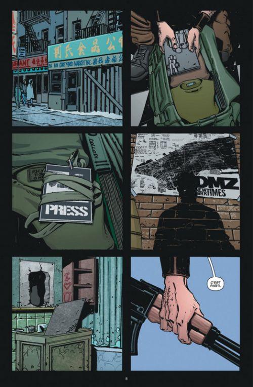 DMZ T4, comics chez Urban Comics de Wood, Fox, Chiang, Lapham, Zezelj, Burchielli, Mutti, Cox