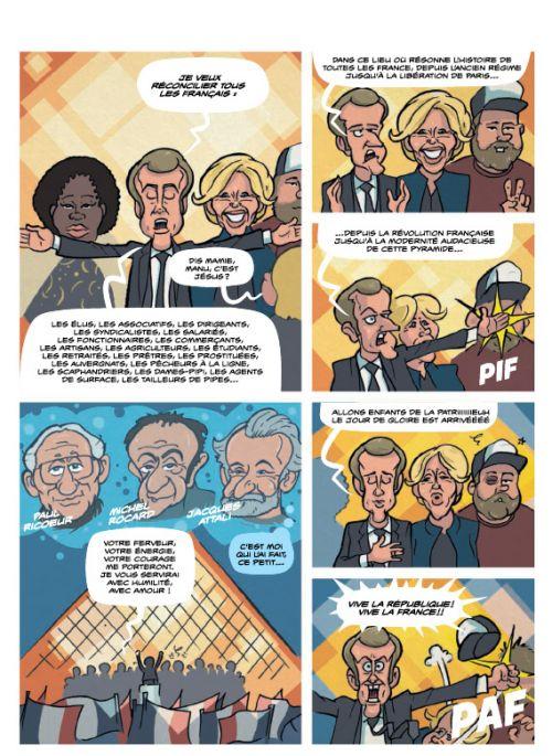 Macron, l'an I, bd chez Massot Editions/Editions Rabelais de Zef, Kak, Degreff
