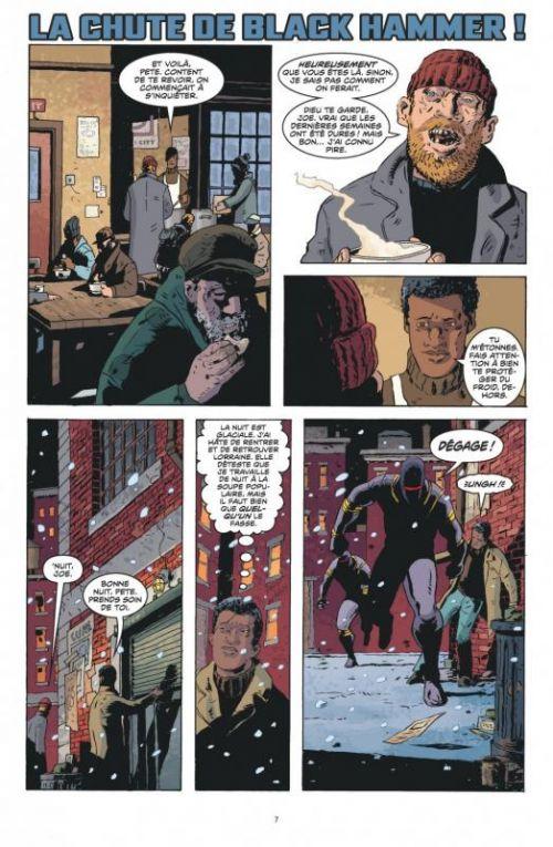 Black Hammer T2 : L'incident (0), comics chez Urban Comics de Lemire, Rubin, Ormston, Stewart