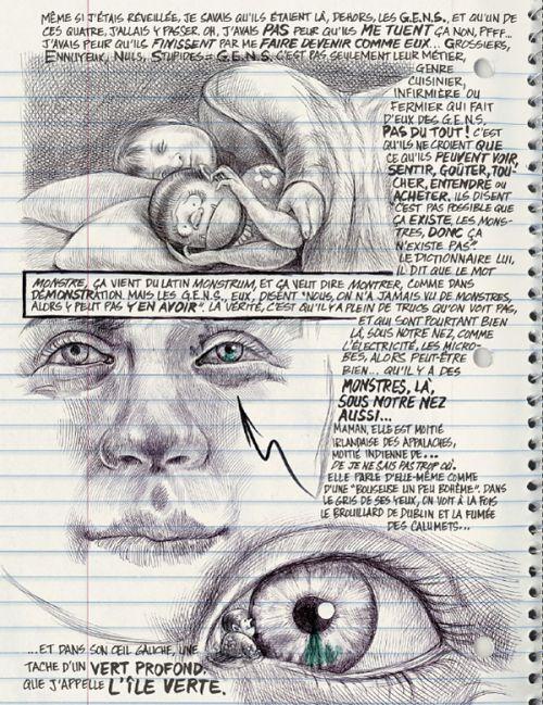 Moi, ce que j'aime, c'est les monstres, comics chez Monsieur Toussaint Louverture de Ferris