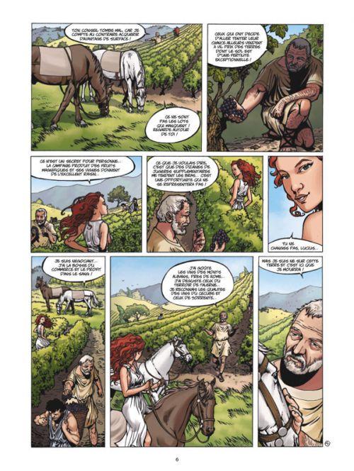 Vinifera : Les Amphores de Pompéi (0), bd chez Glénat de Corbeyran, Robin, Minte