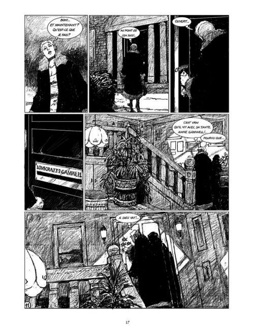 Une Nuit avec Lovecraft, bd chez Mosquito de Rodolphe, Marcelé