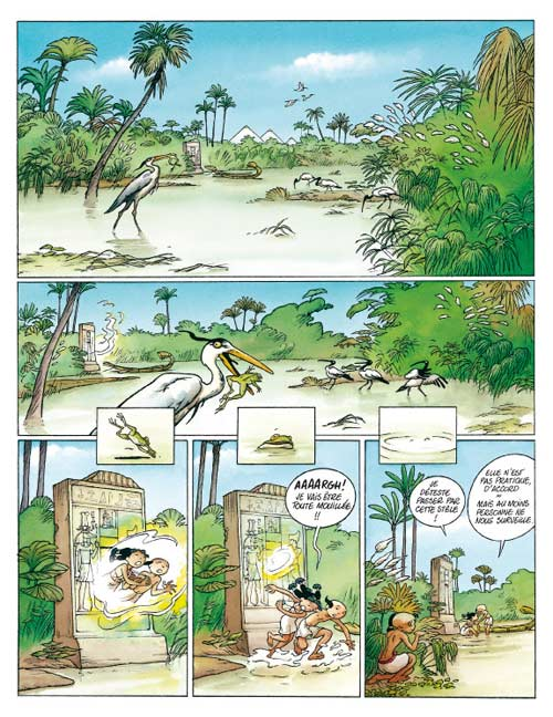 Kheti, fils du nil T2 : Le roie des grenouilles (0), bd chez Delcourt de Dethan, Mazan