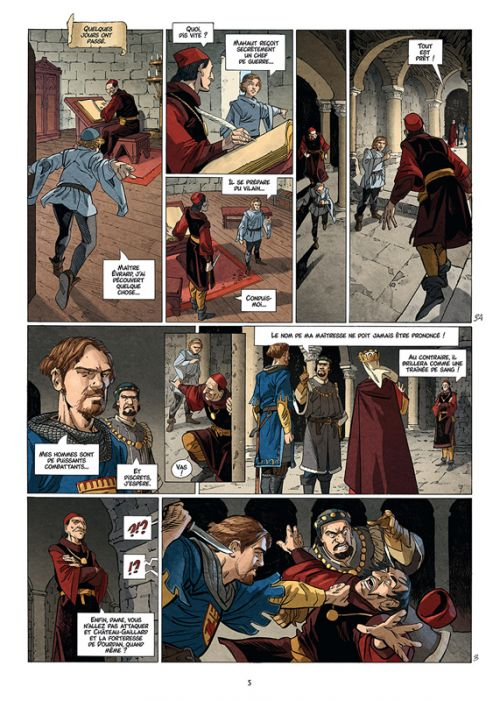 Les Reines de sang – Jeanne, la Mâle Reine T2 : Jeanne, la Mâle Reine - Tome 2 (0), bd chez Delcourt de Richemond, Suro, Fogolin