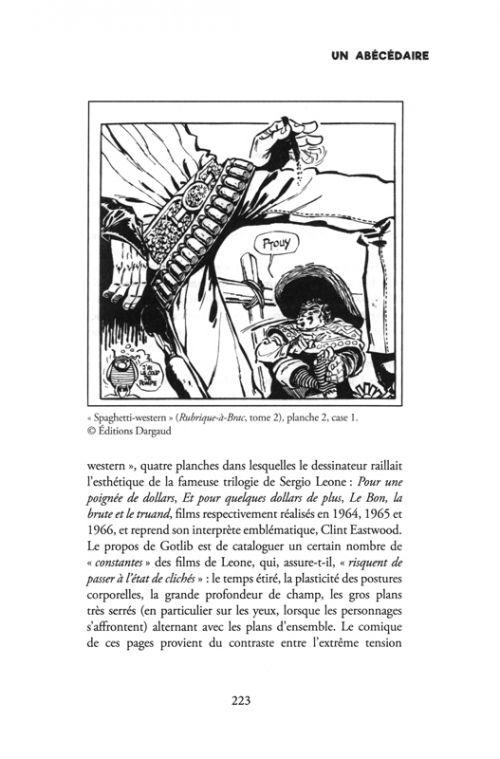 Gotlib un abécédaire, bd chez Les Impressions Nouvelles de Groensteen