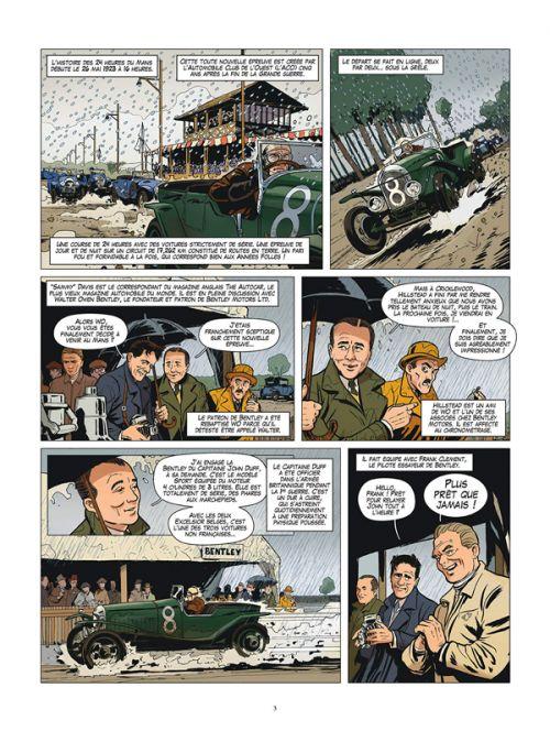 24 heures du Mans : 1923-1930 - Les Bentley Boys (0), bd chez Glénat de Bernard, Papazoglakis, Cinna