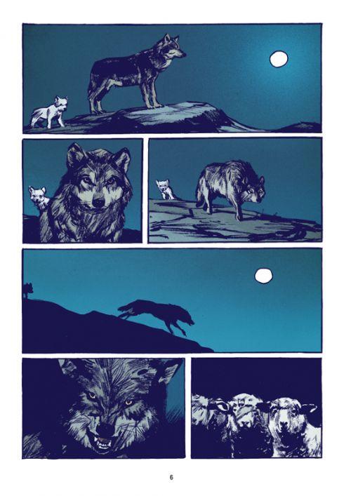 Le Loup, bd chez Casterman de Rochette, Merlet
