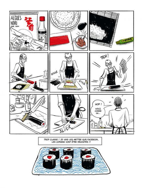 Art du sushi, bd chez Delcourt de Alarcon