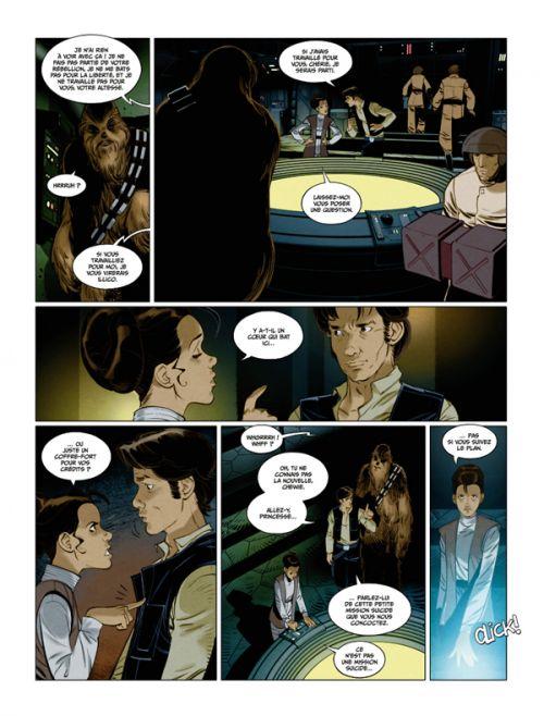 Star Wars - La cavale du contrebandier, comics chez Delcourt de Rucka, Worley, Romling