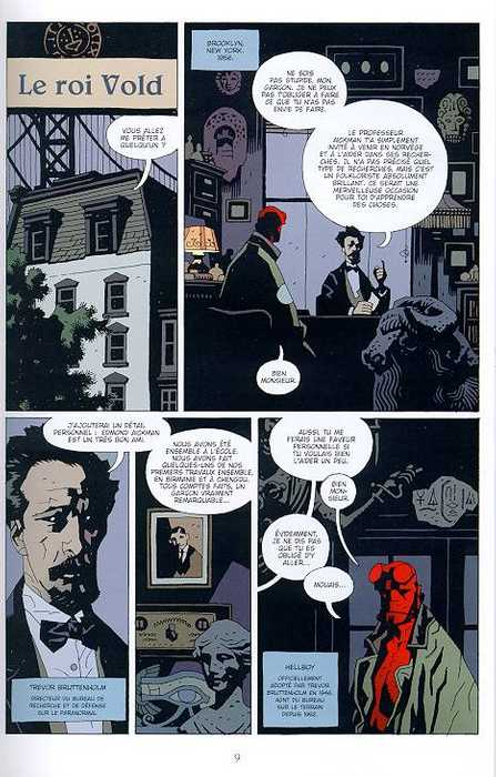 Hellboy T4 : La main droite de la mort (0), comics chez Delcourt de Mignola, Stewart