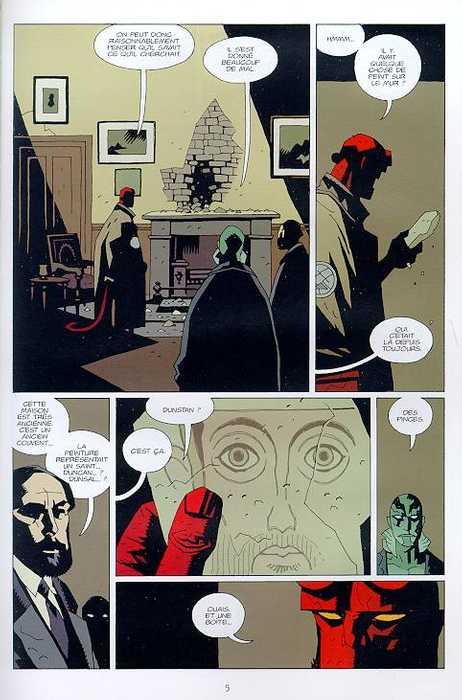 Hellboy T5 : Le diable dans la boîte (0), comics chez Delcourt de Mignola, Stewart