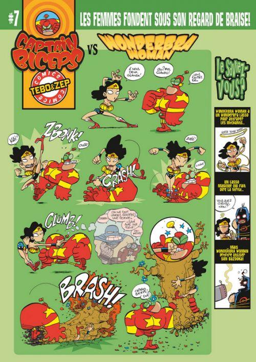 Captain Biceps - Ultimate Fighting T1, comics chez Glénat de Zep, Tébo