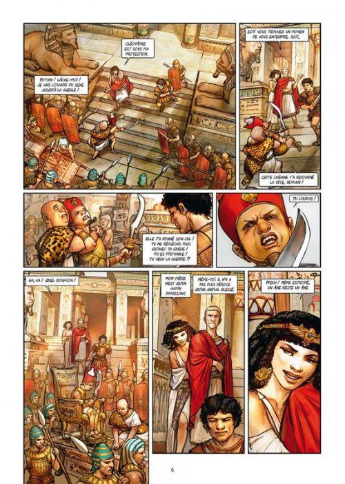 Les Reines de sang – Cléopâtre, la Reine fatale T3, bd chez Delcourt de Gloris, Gloris, Mouclier