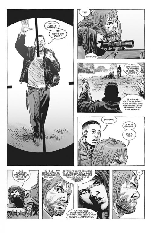Walking Dead T14, comics chez Delcourt de Kirkman, Adlard, Gaudiano