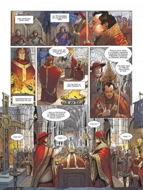Clément V : Le Sacrifice des Templiers (0), bd chez Glénat de Richemond, Giorgiani, Fantini, Pinson