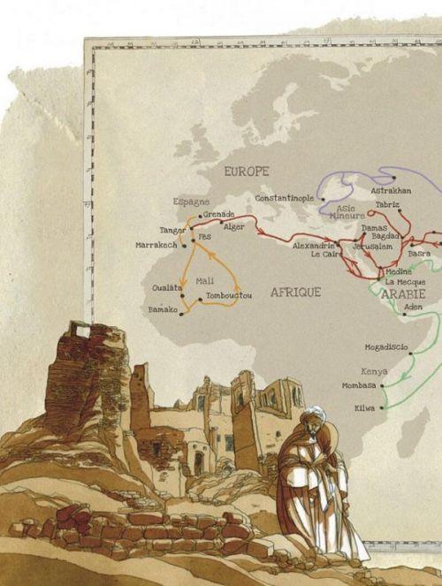Les Voyages d'Ibn Battuta, bd chez Dupuis de Akalay, Alessandra