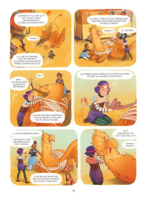 Enola et les animaux extraordinaires T6 : Le griffon qui avait une araignée au plafond (0), bd chez Editions de la Gouttière de Chamblain, Thibaudier