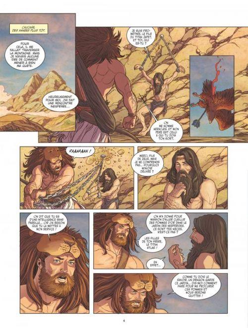 Héraclès T3 : L'apothéose du demi-dieu (0), bd chez Glénat de Bruneau, Duarte, Ruby, Vignaux