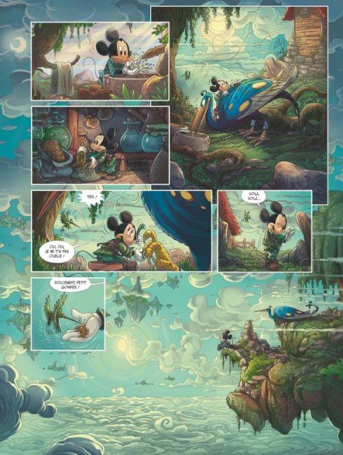 Mickey et la terre des anciens, bd chez Glénat de Filippi, Camboni, Spano