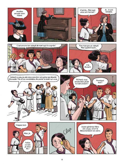 Jujitsuffragettes : Les amazones de Londres (0), bd chez Delcourt de Xavier, Lugrin, Ralenti
