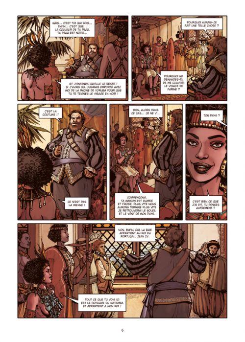 Les Reines de sang – Njinga, reine d'Angola T1 : La lionne du Matamba 1/2 (0), bd chez Delcourt de Pécau, de Vincenzi, Sayago